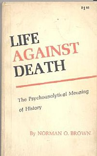 <i>Life Against Death</i> 1959 book by Norman O. Brown