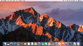 macOS Sierra 13th major version of the macOS operating system