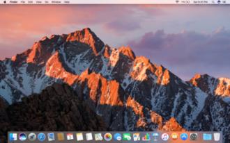 MacOS Sierra - Image: Mac OS Sierra Desktop