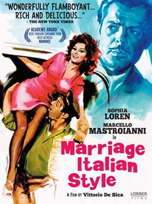Marriage Italian Style - US re-release film poster