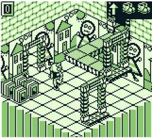 Monster Max - The gameplay is presented from an isometric perspective.