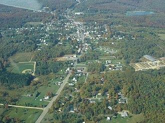 Mount Jewett, Pennsylvania - A birdseye view of Mt. Jewett (click to enlarge)