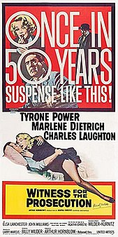 <i>Witness for the Prosecution</i> (1957 film) 1957 American film directed by Billy Wilder