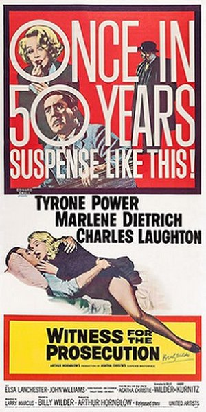 Witness for the Prosecution (1957 film) - Original release poster