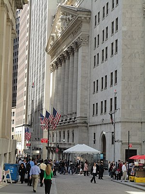 Economy of New York City - The New York Stock Exchange is the largest in the world by dollar volume.