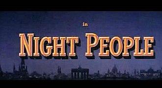 Night People (film) - 1954 CinemaScope Film title card