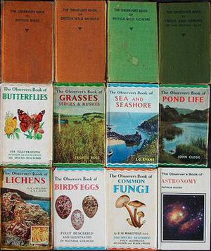 Observer's Books - A selection of Observer's Books including the first in the series, British Birds (1937), showing the wavy line pattern on the dustjackets