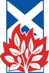 Old square-shaped logo of the Church of Scotland used between 1930 and 1939.
