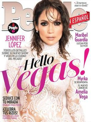 People en Español - People en Español cover with Jennifer Lopez (February 2016)