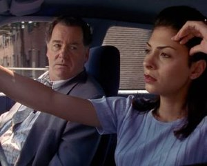 "Blood Ties (Homicide: Life on the Street) - Peter Gerety (left) and Callie Thorne (right) were introduced as regular cast members in ""Blood Ties"", along with Jon Seda (not pictured)."