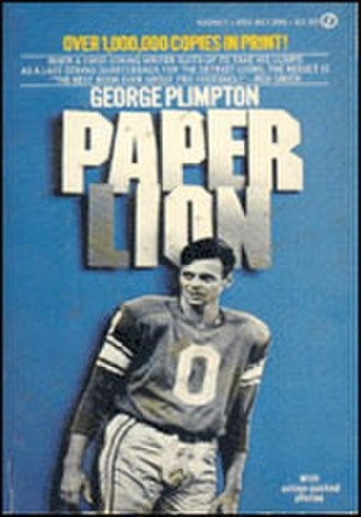 "1963 Detroit Lions season - Cover of ""Paper Lion"" featuring a picture of the author"