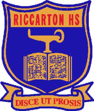 Riccarton High School - Image: Riccarton High School Crest
