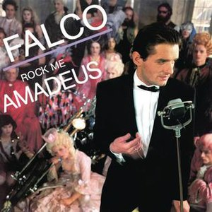 Rock Me Amadeus - Image: Rock Me Amadeus (Falco single cover art)