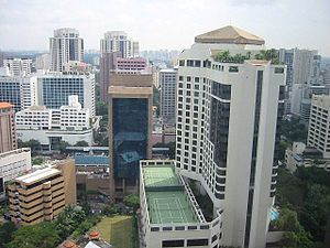 Tennis court - Rooftop tennis hardcourts in Downtown Singapore
