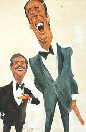 Rowan & Martin's Laugh-In - Caricatures of Dan Rowan and Dick Martin by Sam Berman