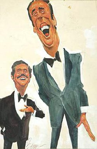 Caricatures of Dan Rowan and Dick Martin by Sam Berman - Rowan & Martin's Laugh-In