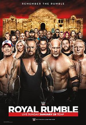 Royal Rumble (2017) - Promotional poster featuring various WWE wrestlers