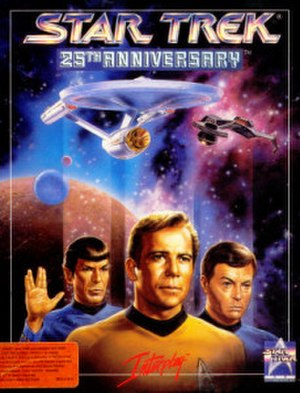 Star Trek: 25th Anniversary (computer game) - MS-DOS box art of Star Trek: 25th Anniversary