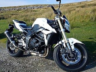 Suzuki GSR750 - 2011 GSR750 with Arrow exhaust installed