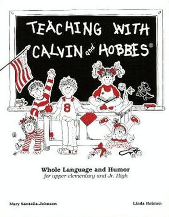 Teaching with Calvin and Hobbes - Image: Teaching with Calvin and Hobbes 1993 Linda Holmen Mary Santella Johnson Bill Watterson textbook cover by Jan Roebken