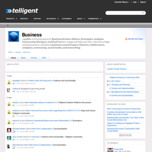 A group on Telligent Community web site