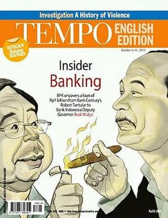 Tempo (Indonesian magazine) - The front cover of Tempo (English edition), October 05–11, 2011