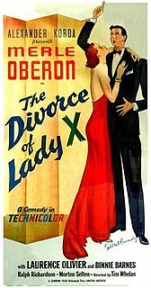 <i>The Divorce of Lady X</i>