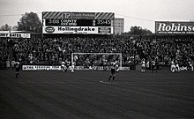 Photograph from the Cheadle End at Edgeley Park of a match taking place in 1994.