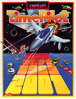 <i>Time Pilot</i> Multidirectional shooter video game first released in 1982