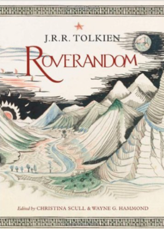 Roverandom - Hardback edition, featuring Tolkien's illustration of a fantasized moonscape