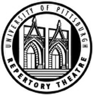 University of Pittsburgh Stages - The logo used by Pitt Stages when it was known as the University of Pittsburgh Repertory Theatre incorporated the gothic, double doors of the Stephen Foster Memorial which houses two of its performance venues