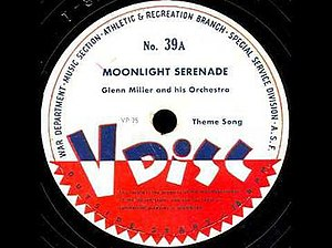 "Moonlight Serenade - ""Moonlight Serenade"" released as Army V-Disc 39A, VP 75, Theme Song, by the U.S. War Department in November 1943."