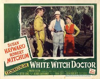 <i>White Witch Doctor</i> 1953 Technicolor adventure film directed by Henry Hathaway