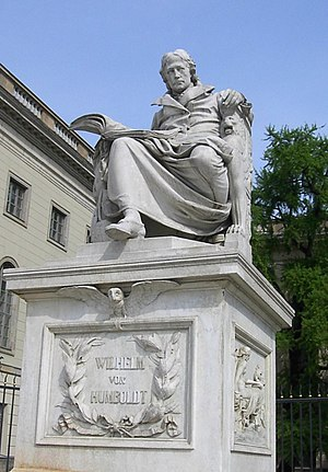 Statue of Wilhelm von Humboldt, outside Humboldt University, Unter den Linden, Berlin