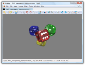 Screenshot of XnView showing a .png image with transparency