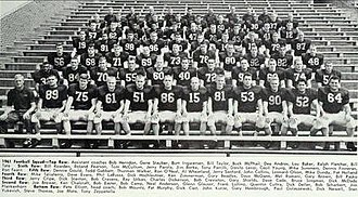 1961 Illinois Fighting Illini football team - Image: 1961 Illinois Fighting Illini football team