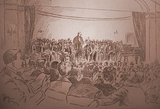 Social Democracy of America - Eugene V. Debs addresses the founding convention of the Social Democracy of America in Chicago, June 15, 1897