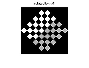 Digital image processing - Image: Affine Transformation Rotated Checkerboard