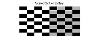 Affine transformation - Image: Affine Transformation Scale Checkerboard
