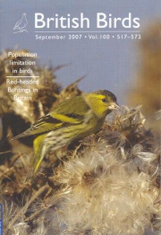 British Birds (magazine) - Image: B Bsept 2007cover
