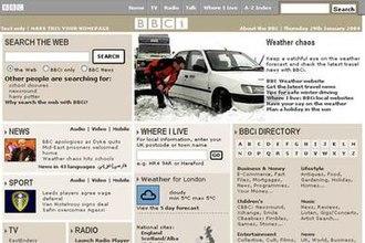 BBC Red Button - BBCi website navbar, 2004