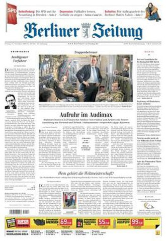 Berliner Zeitung - Image: Berliner Zeitung front page