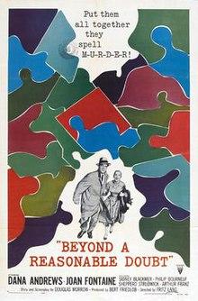 beyond a reasonable doubt 1956 film wikipedia