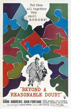 Beyond a Reasonable Doubt (1956 film) - Theatrical film poster
