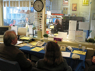 WKMS-FM - A view of WKMS Studio A during the 2008 Autumn Fund Drive.