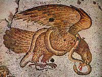 Eagle and Snake, 6th century mosaic flooring Costantinople, Grand Imperial Palace