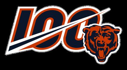 Chicago Bears 100 logo