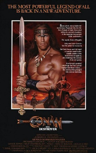 Conan the Destroyer - Theatrical film poster
