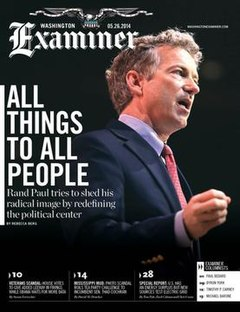 Cover image of Washington Examiner magazine for July 29 2013.jpg
