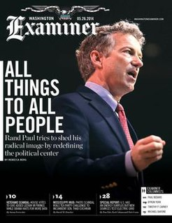 <i>Washington Examiner</i> American conservative political journalism website and magazine based in Washington, D.C.